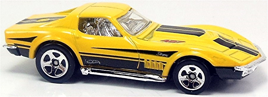 yellow, black base, chrome int., clear windows, black stripes on ...
