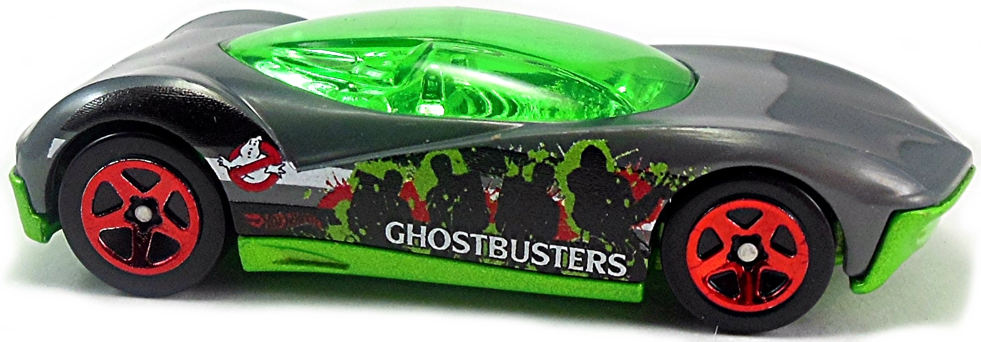 o gray green metal base chrome int green canopy green black red and white team silhouette design on sides sp5rd th ghostbusters 6 walmart excl - Orange Canopy 2016