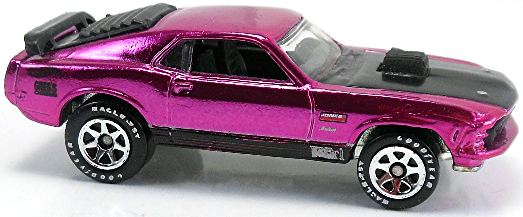 Red Black And Silver Stripes Mustang Mach  Hot Wheels Logo Gregs Chassis And Jones On Sides Spgyt Th Classics Series