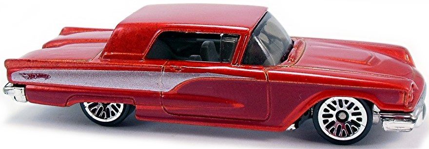 58 ford thunderbird 82mm 2004 hot wheels newsletter e mf red chrome base gray int tinted windows maroon and silver design whot wheels logo on sides lw mal 181 2005 1 2 sciox Image collections
